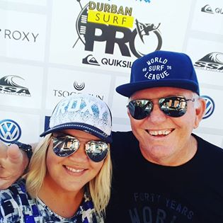 Guest surf commentator and event MC of the Quicksilver Durban Surf Pro