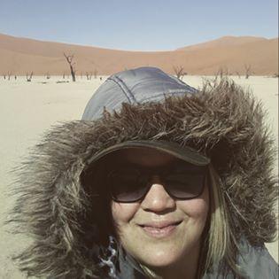 Exploring the Deadvlei in the Sossusvlei Desert, Namibia