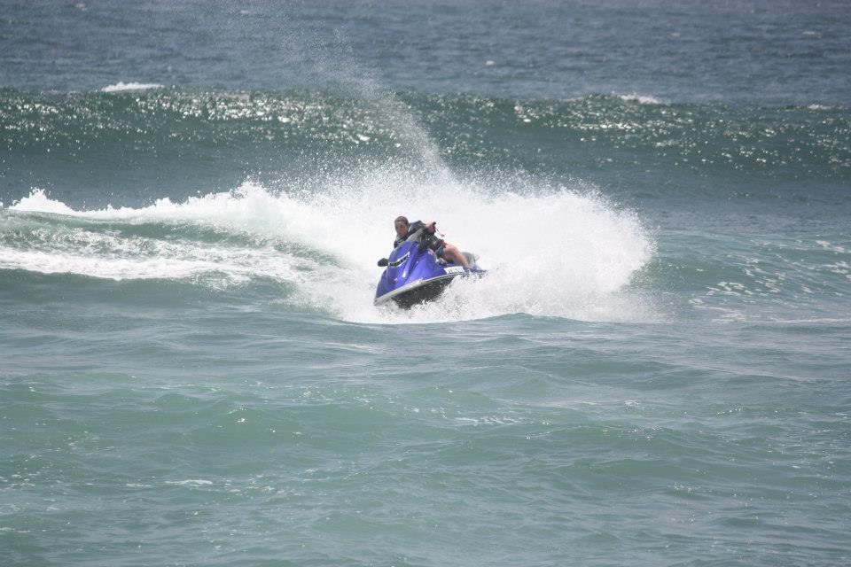 Jetski racing off Durban
